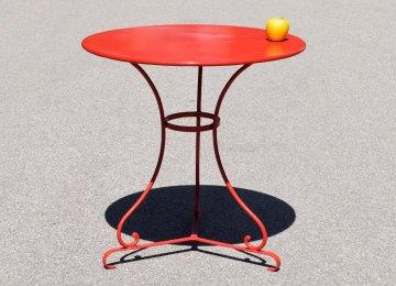 Table De Jardin Fer Ancienne | Table Fer Forgé Patine Blanche ...