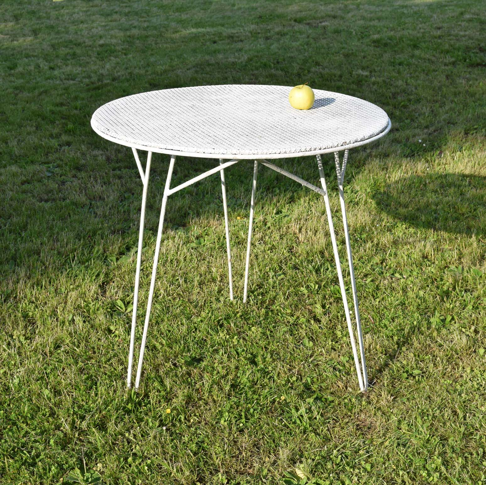 Table Jardin Fer Blanc Ronde | Table De Jardin Ronde En Fer Forgé ...