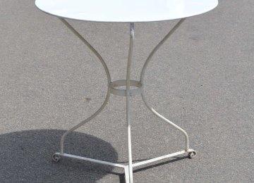 Table Jardin Ancienne Fer Forge | Table Ronde Avec Quatre Chaises En ...