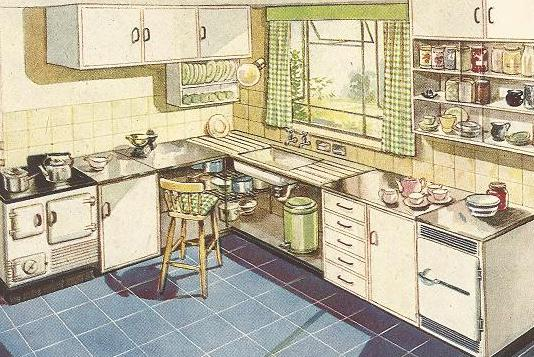 Kitchens  1940s  20th Century Home