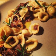 Orecchiette with braised lamb, taggiasca olive, anchovy & rosemary.
