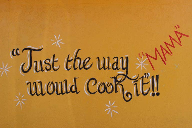 A photo of a mural on the wall of C & C Cafe in Shreveport.