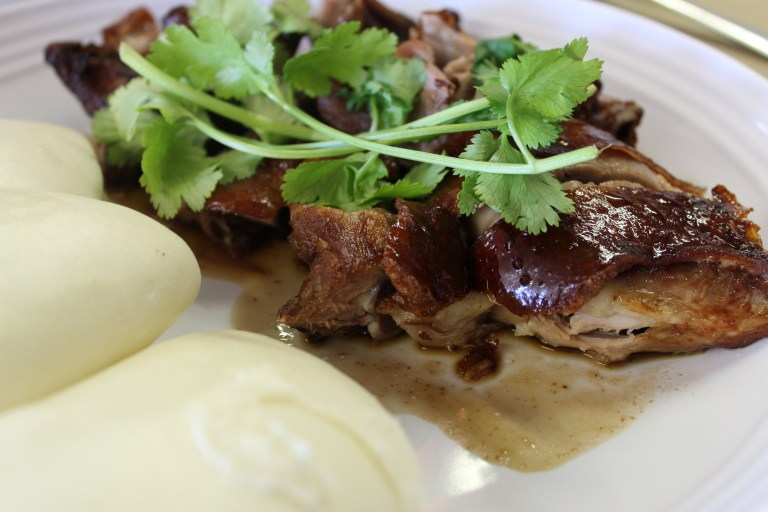 Crispy Duck Breast with Steamed Buns at T.S. Noodle House