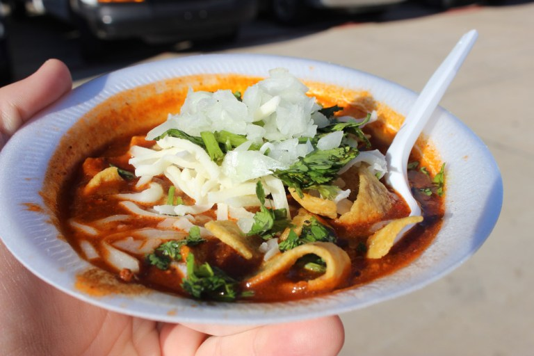 A photo of homemade chili from Ki Mexico