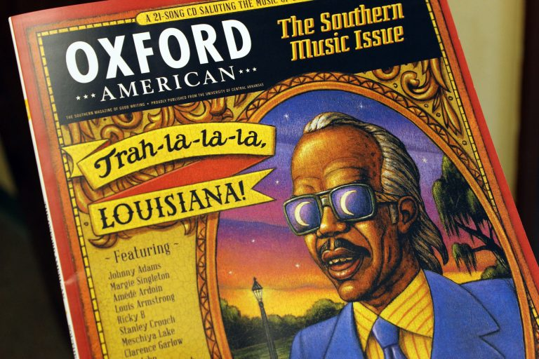 A photo of the Oxford American Louisiana music issue