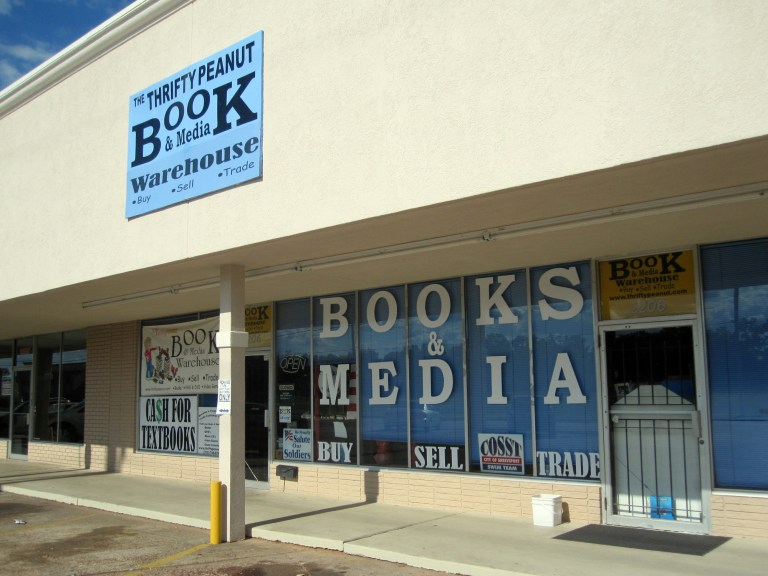 A photo of the Thrifty Peanut book store in Bossier City