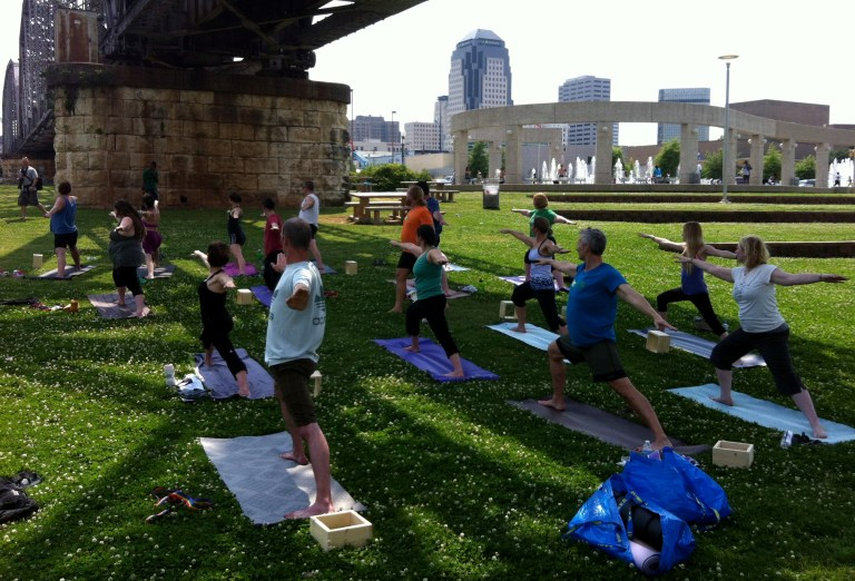 A photo of a Yoga Jai class in downtown Shreveport