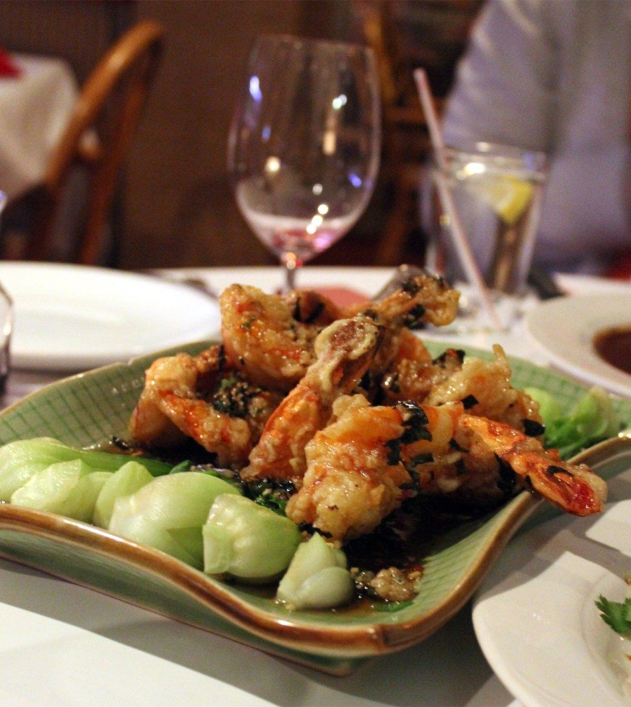 A photo of Thai green curry prawns