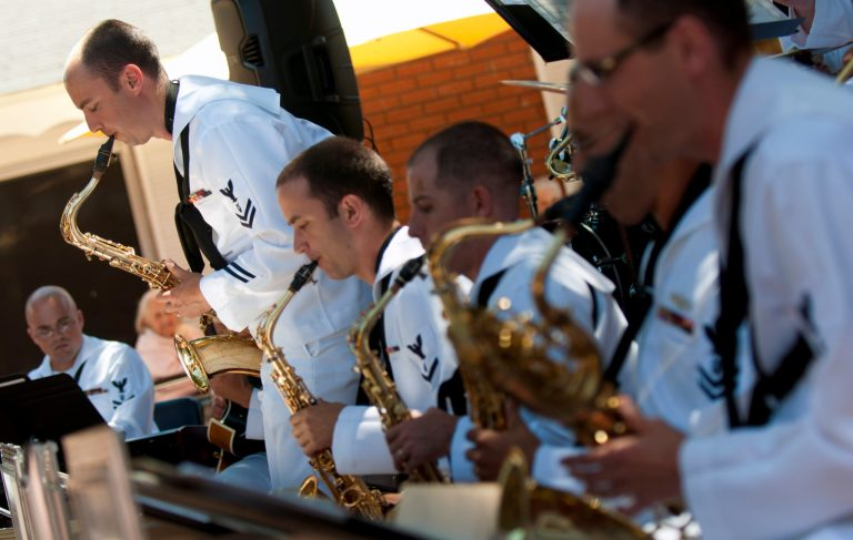 A photo of the Navy Band