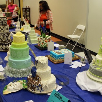 A photo of a cake competition