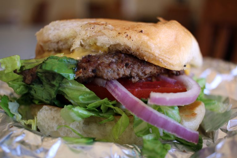 A photo of the burger from Gullo's