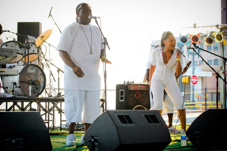 A photo of singers from the Let the Good Times Roll Festival