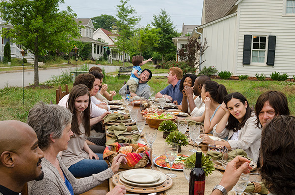 A photo of the cast of The Walking Dead