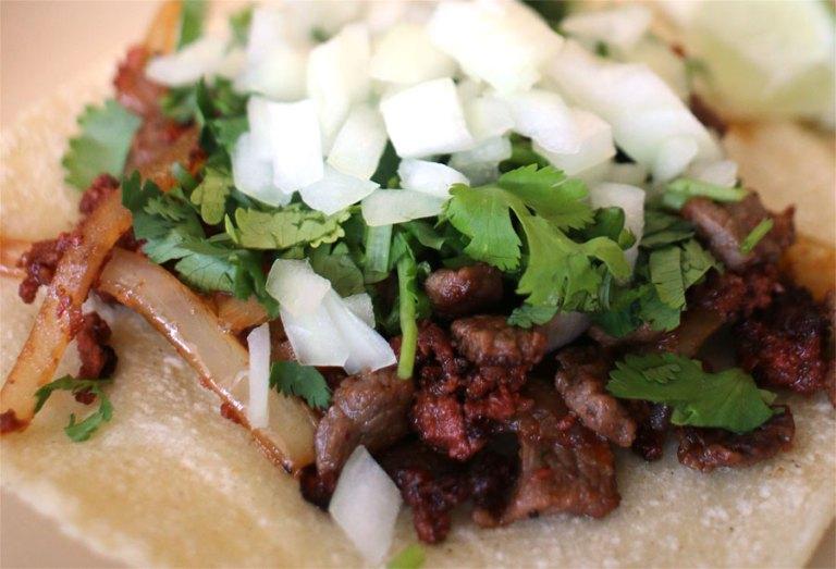 A photo of a taco