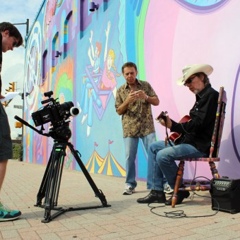 A photo of a video shoot