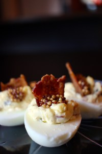 A photo of deviled eggs