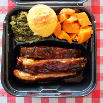 A photo of a rib plate from MJ's Culinary Cuisine