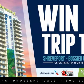 A promotional graphic for the Fly Shreveport giveaway