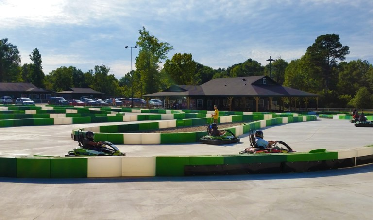 A photo of go-karts
