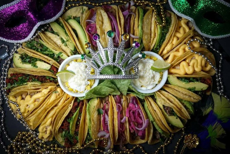 A photo of the taco king cake