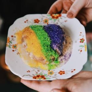 A photo of a scone