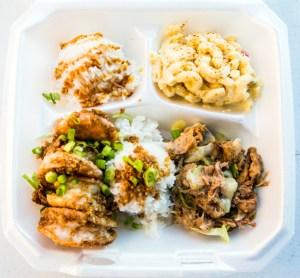 A photo of Hawaiian food