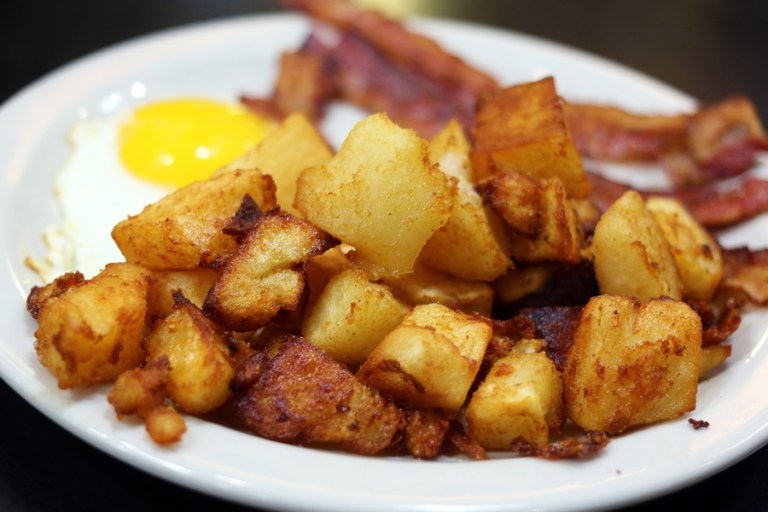A photo of hash browns
