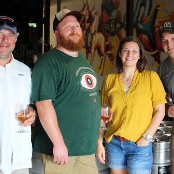 A photo of the Great Raft Brewing team
