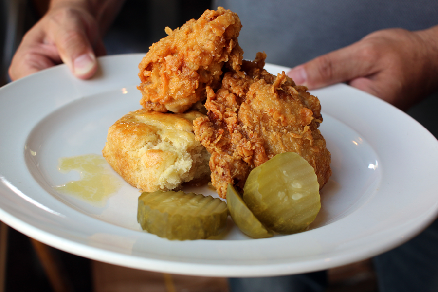 A photo of fried chicken