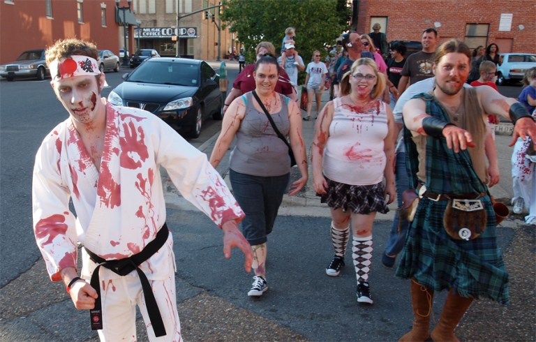 A photo of the SBC Zombie Walk