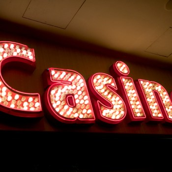 A photo of a casino sign