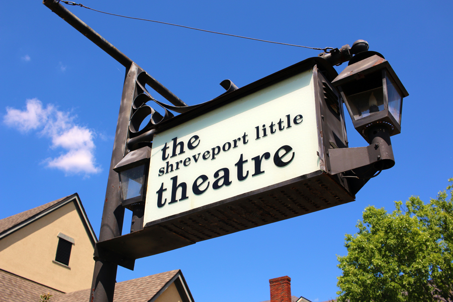 A photo of the Shreveport Little Theatre sign