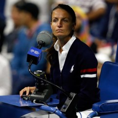 Tennis Umpire Chair Hire Caster Replacements Lochu Eva Asderaki Moore First Female At Us