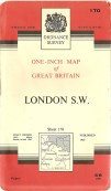 One-inch map of Great Britain London S.W. 1965