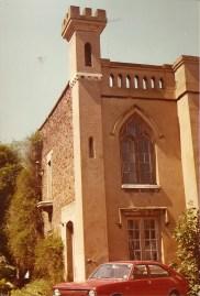 Gothic window and crenelation