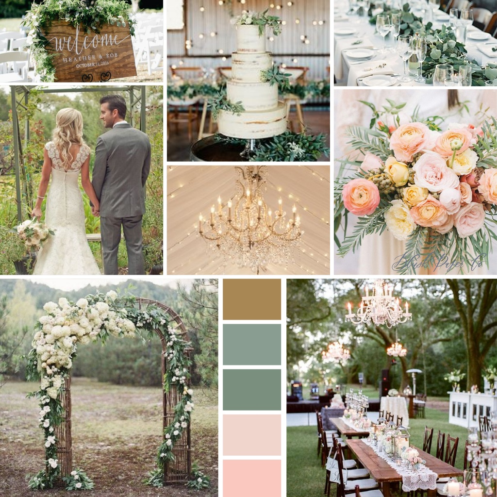 Glamorous Rustic Chic Inspiration Board | Blush Paper Co.