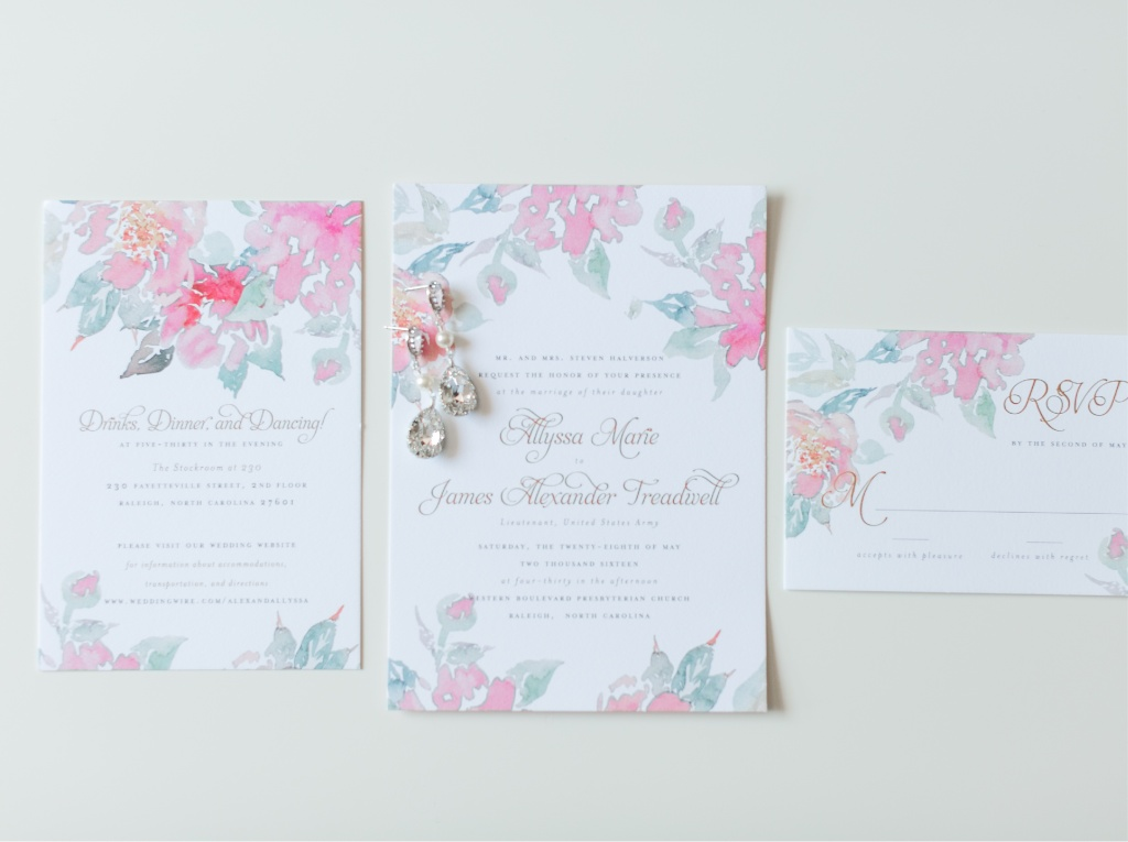 Spring Floral Watercolor Wedding Invitations | Blush Paper Co.