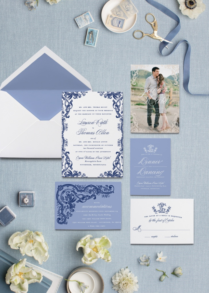 Blue and White Chinoiserie Wedding Invitations | Blush Paper Co.