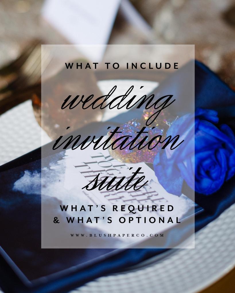 A Complete Wedding Invitation Checklist | Blush Paper Co.