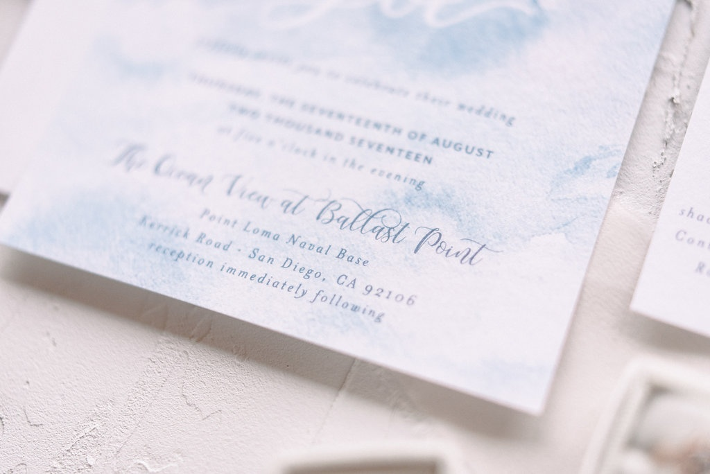 Blue Watercolor Wedding Invitations | Blush Paper Co.