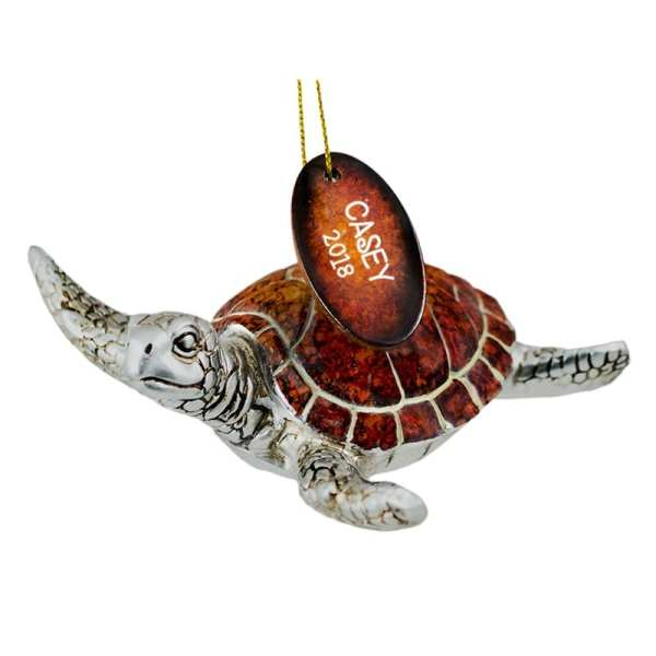 Sea Turtle That Can Be Personalized Ornaments