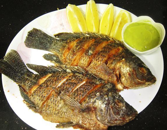 Fried Black Tilapia with Avocado Dipping Sauce Recipe