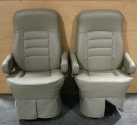 RV Furniture USED FLEXSTEEL ULTRA LEATHER RV CAPTAIN CHAIR ...