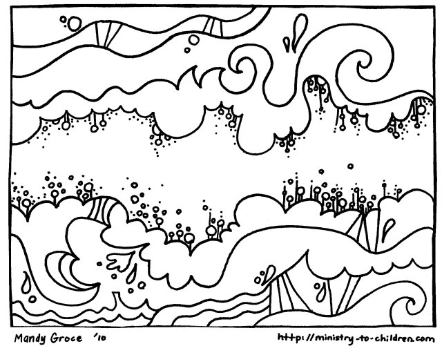 """Creation Coloring Pages """"God Made the Sky"""""""