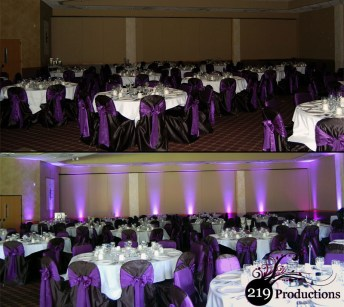 219 Productions - Northwest Indiana LED Uplighting at Villa Cesare