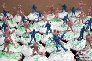 Army Men cupcakes with AVMRA in Hammond, IN
