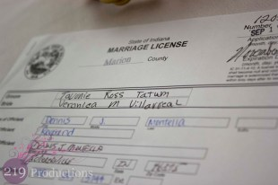 Marriage Certificate Innsbrook Country Club Wedding
