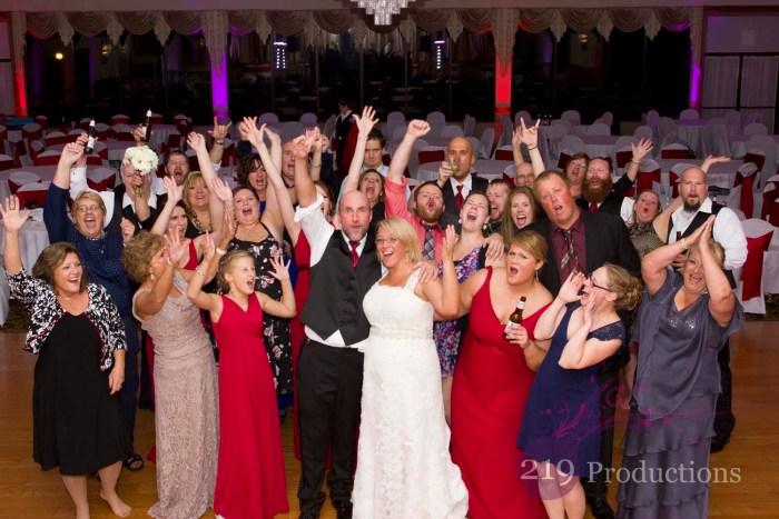 Uplighting Croatian Center Wedding Group Photo