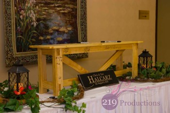 Hellenic Cultural Center Wedding Bench Guest Book