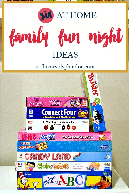 Six At Home Family Fun Night Ideas Flavors Of Splendor